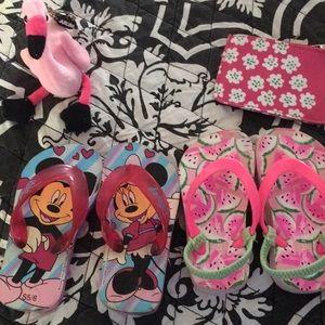 Disney/wonder kids/roxy size 5tod sandal $10/3pr
